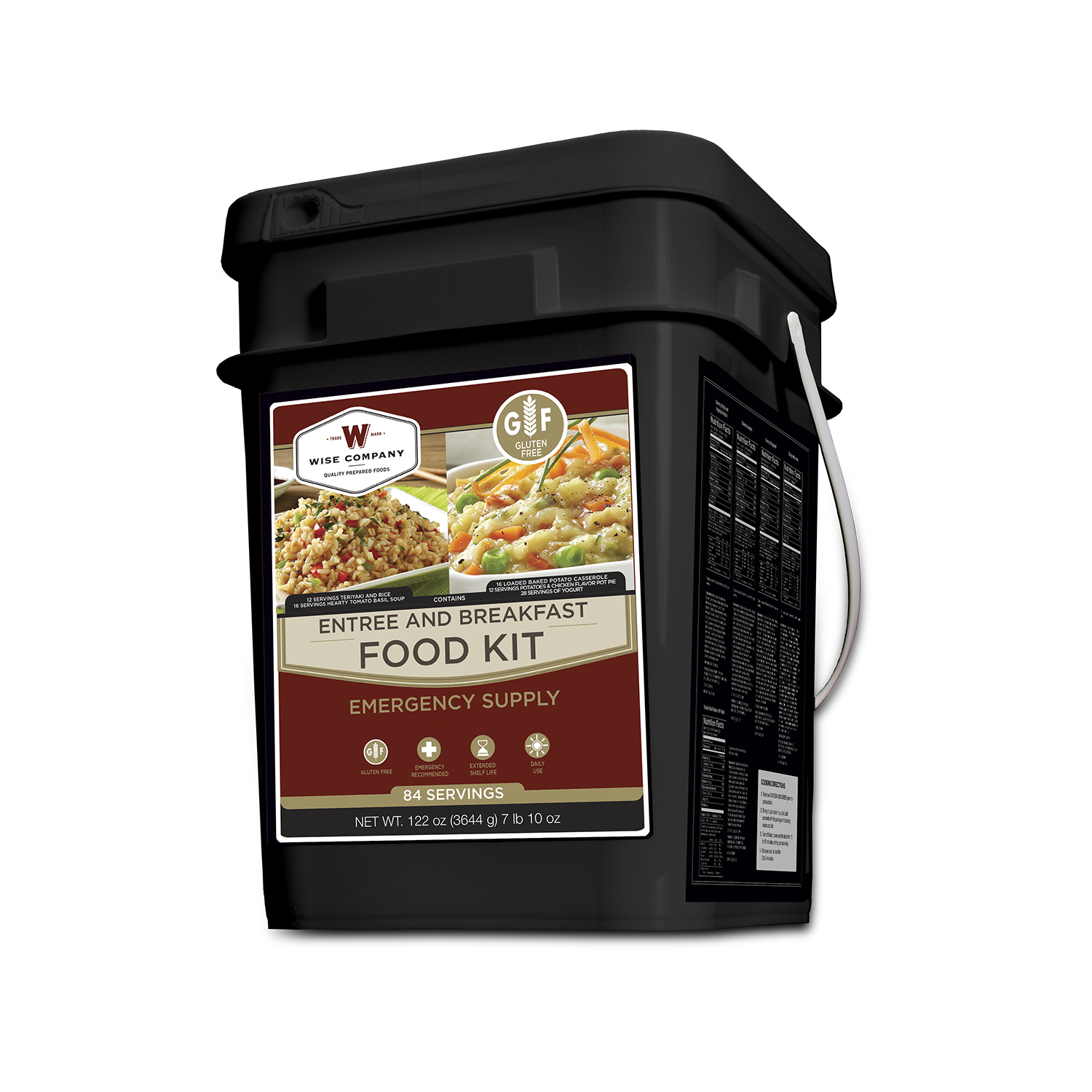84 Serving Entrée and Breakfast Gluten-Free bucket