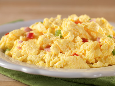 Scrambled Eggs with Ham, Red & Green Peppers - Pouch