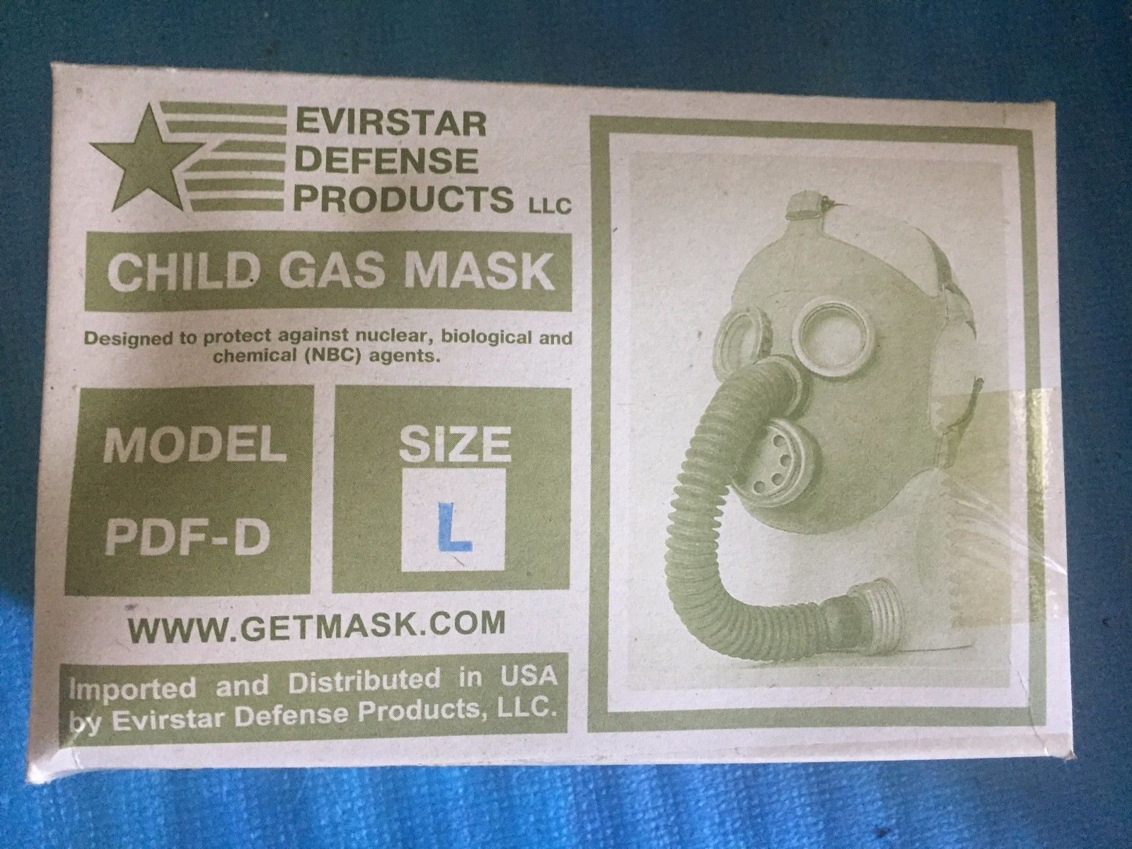 Russian PDF-D Gas Mask, child 3 large